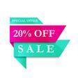 modern banner sale 20 off vector image vector image