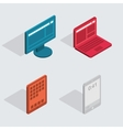 modern flat icons set Computer tablet vector image vector image