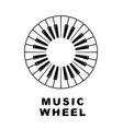 music logo piano as wheel eye icon simple style vector image vector image