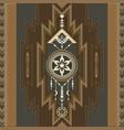 native southwest american aztec navajo print vector image