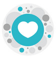 of love symbol on feeling icon vector image vector image
