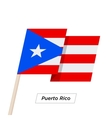 Puerto Rico Ribbon Waving Flag Isolated on White vector image vector image