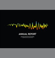 pulse music player audio rainbow wave logo vector image vector image