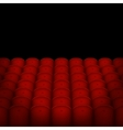 Red Cinema or Theater Seats with Black Blank