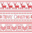 Scandinavian merry christmas sign inspired by nor vector image vector image