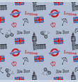 seamless background with symbols london vector image