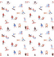 seamless pattern with men women and children vector image vector image