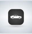 sedan car model over black app icon vector image vector image