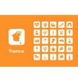 Set of France simple icons vector image vector image