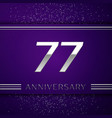 seventy seven years anniversary celebration design vector image vector image