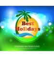 shining summer typographical background vector image