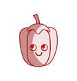 silhouette kawaii cute happy pepper vegetable vector image vector image
