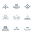 smart energy logo set simple style vector image