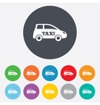 Taxi car sign icon Hatchback symbol vector image
