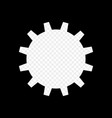 the frame is monochrome in the form of a gear vector image vector image