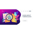 tuberculosis concept landing page vector image vector image