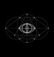 vesica piscis sacred geometry all seeing eye sign vector image