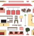 Cool graphic living room pattern vector image