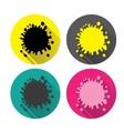 Icons blot Set colorful spots blots splashes vector image
