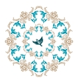 circular ornament vector image