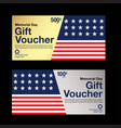 gift voucher coupon template vector image