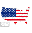 USA map with flag vector image
