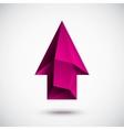 3d magenta up arrow vector image vector image