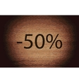 50 percent discount icon symbol Flat modern web vector image vector image