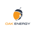 abstract icon acorn and arrow energy vector image