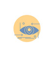 advanced future gen science technology eye glyph vector image vector image