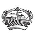 Agriculture landscape vector image