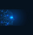 artificial intelligence concept robot face vector image