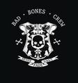 bad bones crew crest vector image vector image