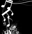 black and white music grunge background vector image vector image