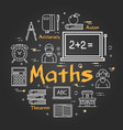 black school concept with maths subject vector image vector image