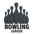 bowling event logo flat style vector image vector image