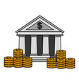 business bank stacked coins money vector image vector image