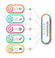 business infographic paper origami template vector image