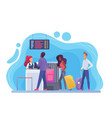 check in in airport flat vector image vector image