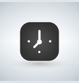 clock app button on a white background vector image vector image