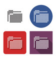 dotted icon folder in four variants with short vector image
