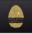 easter egg with design greetings text vector image vector image
