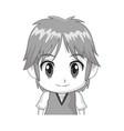 face cute anime tennager facial expression vector image vector image