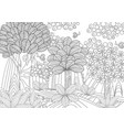 fantasy forest for coloring book vector image