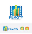 film city logo design vector image vector image
