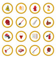 firefighter cartoon icon circle vector image vector image