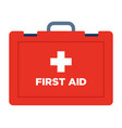 first aid suitcase icon flat isolated vector image vector image