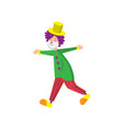 funny clown in beautiful color clothes cute clown vector image vector image