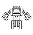 futuristic robot transformer icon outline style vector image vector image