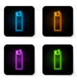 glowing neon lighter icon isolated on white vector image vector image